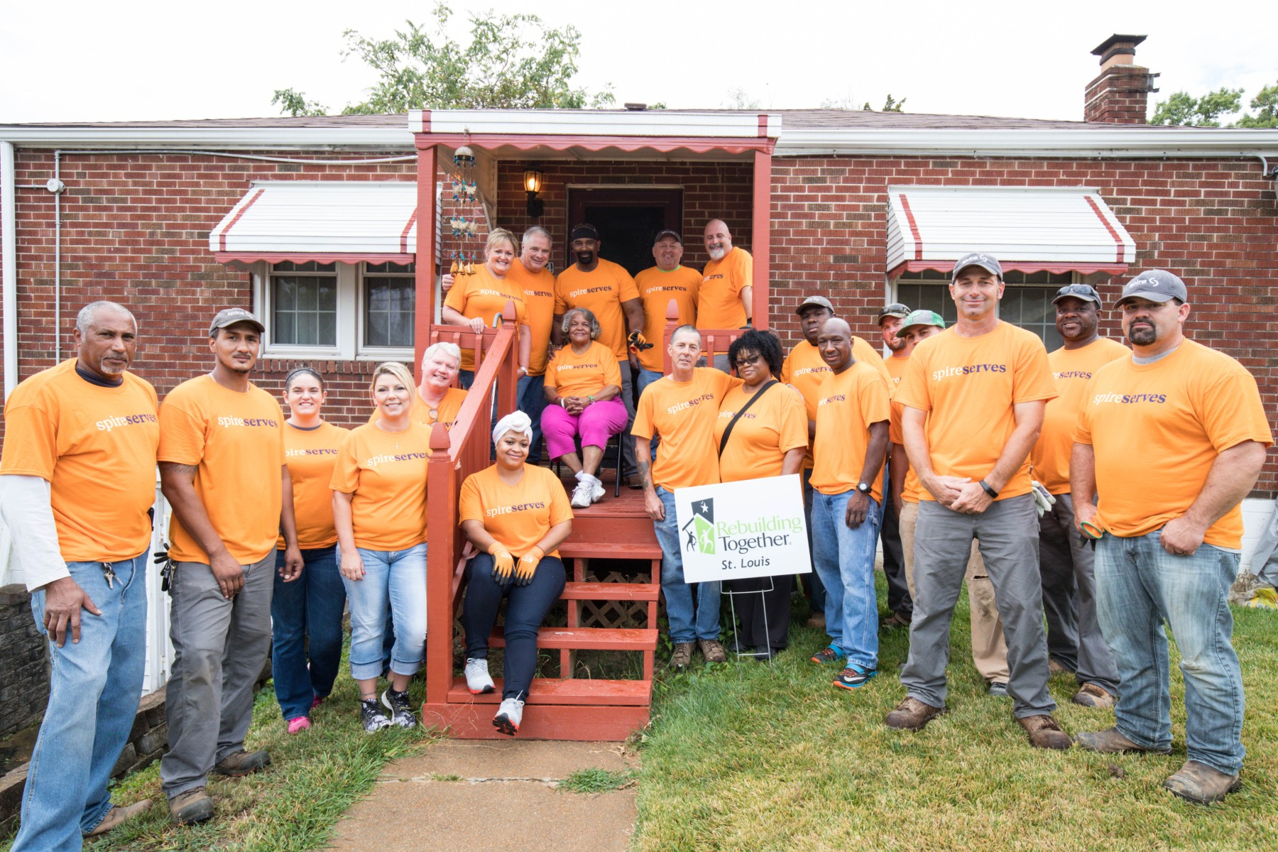 Spire employees giving back